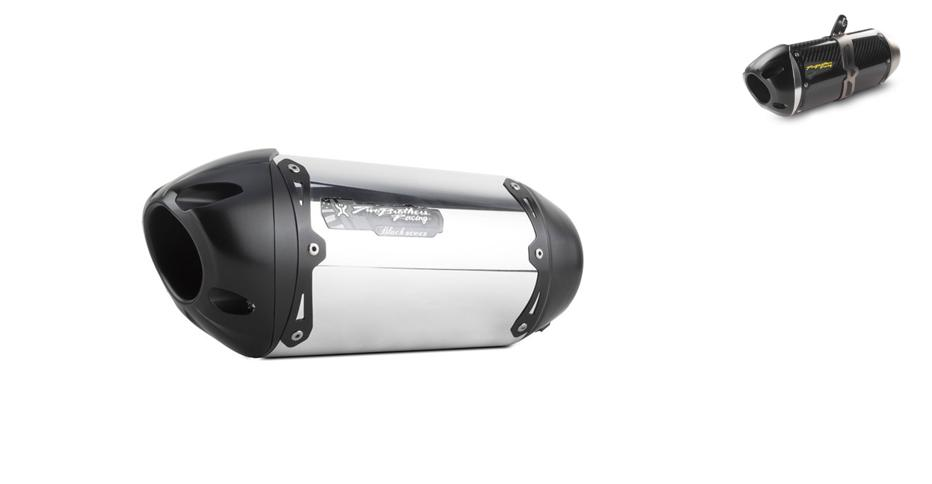 Two Brothers Racing S1R Black Exhaust Full System For Honda